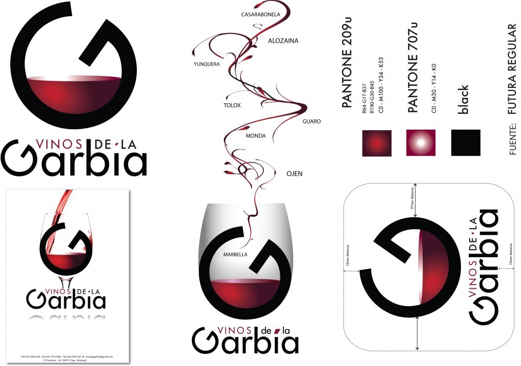 corporate identity garbia wine