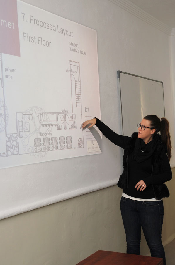student interior architecture in Marbella Design Academy